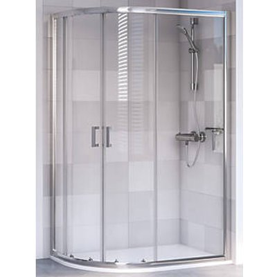 Aqualux Offset Quadrant Shower Enclosure & Tray Left-Hand 1000 x 800 x 1900mm (502KX)