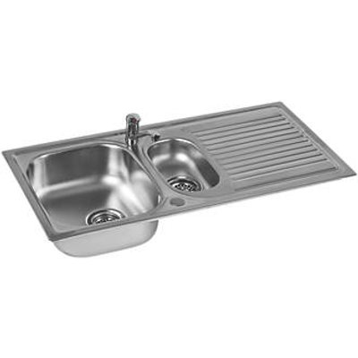 Astracast Aegean Stainless Steel Sink & Tap Pack 1.5 Bowl 965 x 500mm (509HX)