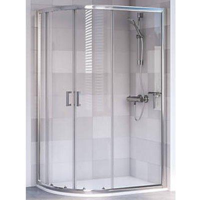 Aqualux Offset Quadrant Shower Enclosure & Tray Left-Hand 1200 x 800 x 2000mm (528KX)
