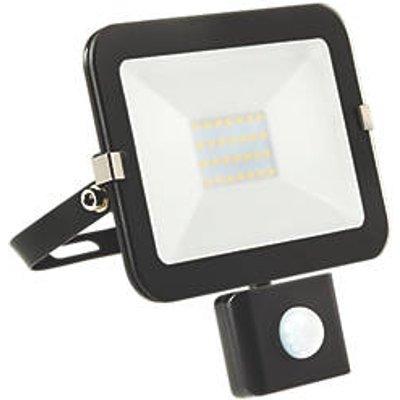 Brackenheath iSpot Outdoor LED Slim Floodlight With PIR Sensor Black 20W 1800lm (533FH)