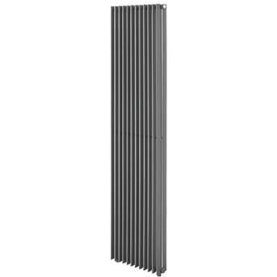 Moretti Rovingo Double Column Designer Radiator 1800 x 520mm Matt Charcoal 6281BTU (5376P)