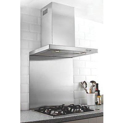 Hafele Stainless Steel Catering Grade Splashback 600 x 750 x 8mm (54418)