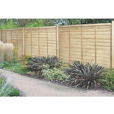 Forest Super Lap Fence Panels 6 x 6