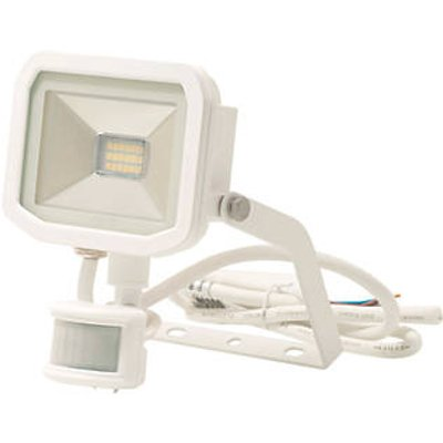 Luceco Guardian Indoor & Outdoor LED Floodlight With PIR Sensor White 8W 600lm (5564V)