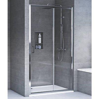 Aqualux Rectangular Shower Door & Tray Reversible 1200 x 800 x 1935mm (5565T)