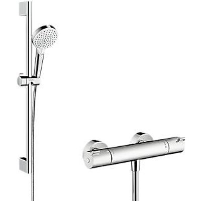 Hansgrohe Ecostat HP Rear-Fed Exposed Chrome Thermostatic Mixer Shower (560GV)