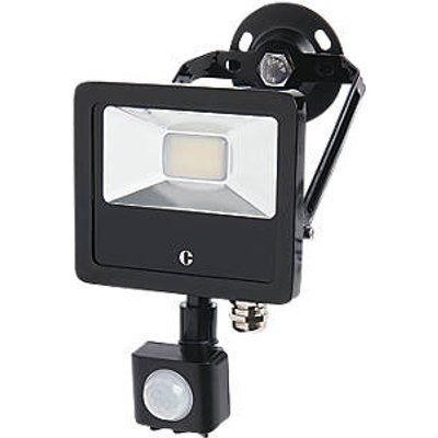 Collingwood  Outdoor LED Colour-Switch Floodlight With PIR Sensor Black 10W Up to 1300lm (572KJ)