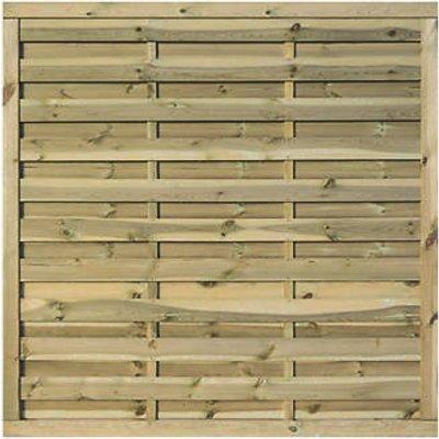 Rowlinson Gresty Double-Slatted Fence Panel 6 x 6