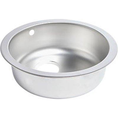 Round Kitchen Sink Textured Linen Stainless Steel 1 Bowl 450 x 450mm (5859K)