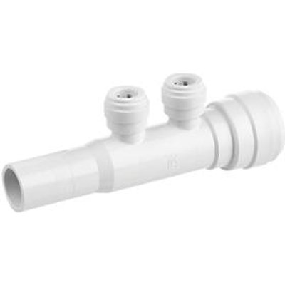 Flomasta SMF6741M2P Plastic Push-Fit Reducing 2-Port Manifold 22 x 10mm (595KR)