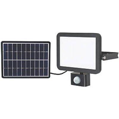 LAP RB0258A Outdoor LED Solar Floodlight With PIR Sensor Black 1200lm (6178V)