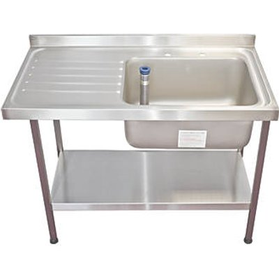 Franke Midi Catering Sink Stainless Steel 1 Bowl 1200 x 650mm (6420G)