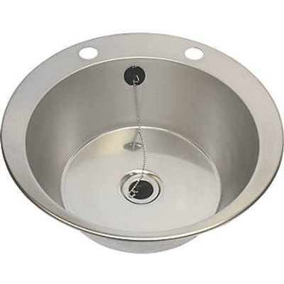 Franke  1 Bowl Stainless Steel Inset Washbasin 447 x 130mm (6453P)