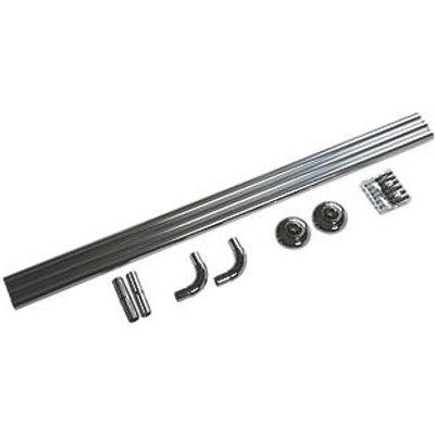 Croydex Straight Shower Curtain Rail System Aluminium Chrome 900-1760mm (6467X)