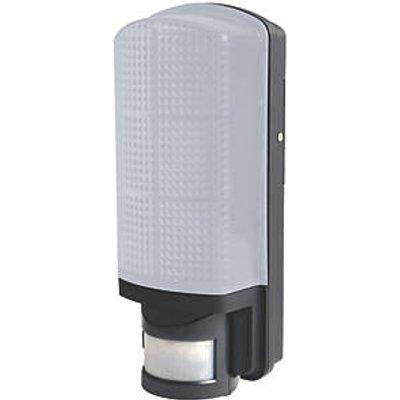 LAP AR0506 Rectangular LED Bulkhead With PIR Sensor Black 8W (6470V)