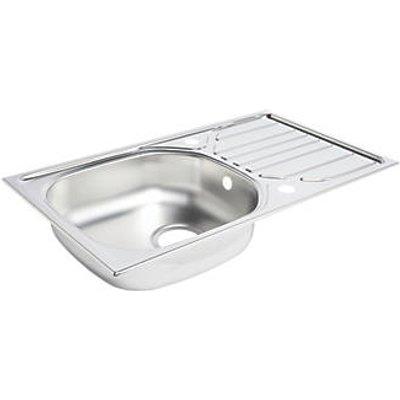 Kitchen Sink & Drainer Stainless Steel 1 Bowl 760 x 430mm (6547K)