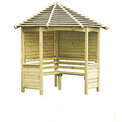Forest Venetian Arbour Natural Timber 2334 x 1605 x 2500mm (6577F)