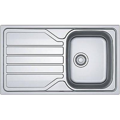 Franke Flash Sink Stainless Steel 1 Bowl 860 x 500mm (658JK)