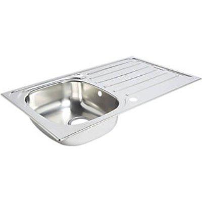 Kitchen Sink & Drainer Stainless Steel 1 Bowl 860 x 500mm (6663K)