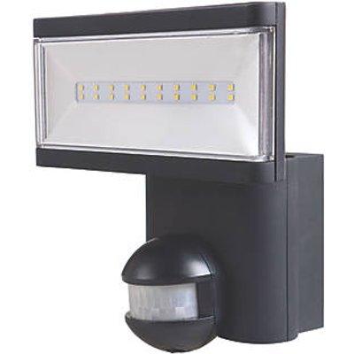 LAP Single Indoor & Outdoor LED Floodlight With PIR Sensor Black 21W 1900lm (6666V)