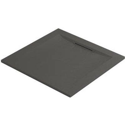 Mira Flight Level Square Shower Tray Slate Grey 800 x 800 x 25mm (668HR)