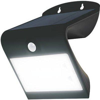 Luceco LEXS40B40-01 Outdoor LED Solar Wall Light With PIR Sensor Black 400lm (676GY)
