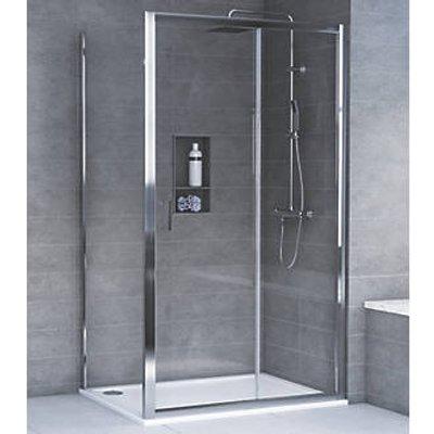 Aqualux Rectangular Shower Enclosure & Tray Reversible 1200 x 800 x 1935mm (6840T)