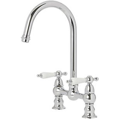 Cooke & Lewis 59A Deck-Mounted Dual-Lever Mixer Kitchen Tap Chrome (6878T)