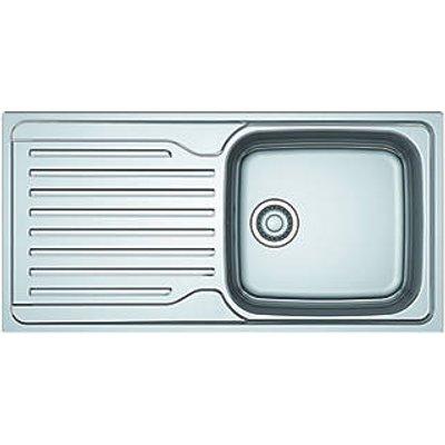 Franke Antea Reversible Inset Sink & Drainer Stainless Steel 1 Bowl 1000 x 500mm (6949V)