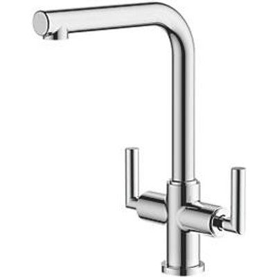 Watersmith Heritage Dolce Dual-Lever Mono Mixer Kitchen Tap Chrome (7005P)