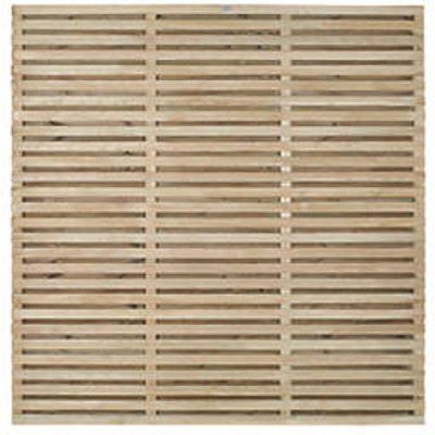 Forest Double-Slatted Fence Panel 6 x 6