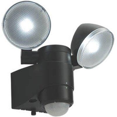 Saxby Laryn Outdoor LED Floodlight & PIR With PIR Sensor Black 2 x 2W 320lm (7172J)