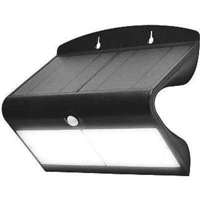 Luceco  LED Solar Wall Light With PIR Sensor Black (718GY)
