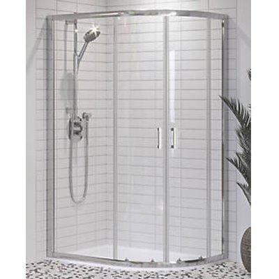 Aqualux Offset Quadrant Shower Enclosure & Tray Right-Hand 1000 x 800 x 1900mm (726KX)