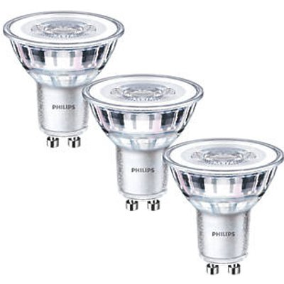 Philips GU10 LED Light Bulb 355lm 4.6W 3 Pack (7282P)