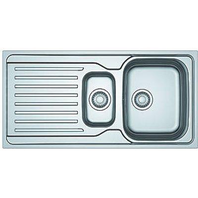 Franke Antea Reversible Inset Sink & Drainer Stainless Steel 1.5 Bowl 1000 x 500mm (7356V)