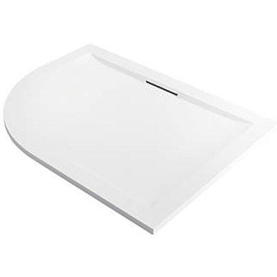 Mira Flight Level Offset Quadrant Shower Tray RH White 1200 x 900 x 25mm (754PJ)
