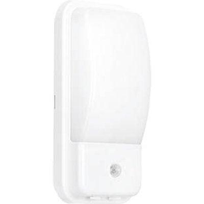 Enlite UtiliteX Rectangular LED Security Bulkhead With PIR Sensor White 10W (758FH)