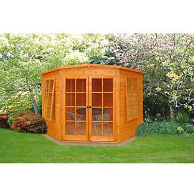 Shire Hampton Corner Summerhouse Assembly Included 2.25 x 2.25m (76149)
