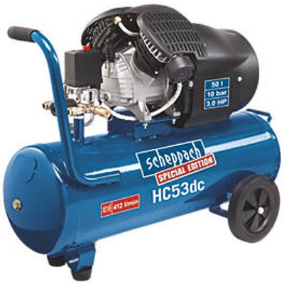 Scheppach HC53DC 50Ltr Electric Twin Cylinder Air Compressor 240V (76494)