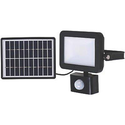 LAP RB0256A Outdoor LED Solar Floodlight With PIR Sensor Black 600lm (7697V)