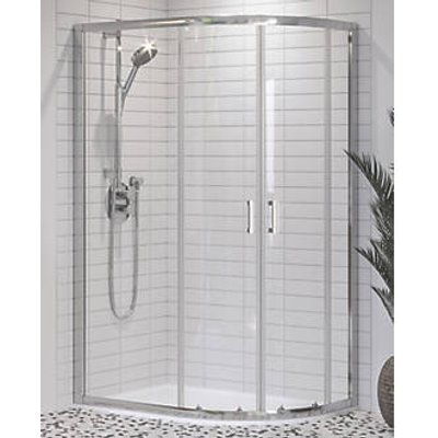 Aqualux Offset Quadrant Shower Enclosure & Tray Right-Hand 1200 x 800 x 1900mm (770KX)