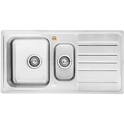Bristan Index Kitchen Sink & Reversible Drainer Stainless Steel 1.5 Bowl 970 x 500mm (776HT)