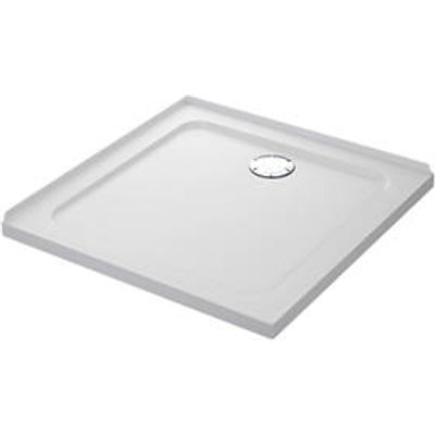 Mira Flight Safe Square Shower Tray with 2 Upstands White 800 x 800 x 40mm (7776X)