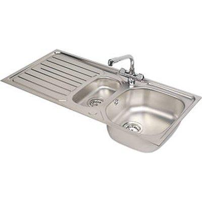 Franke Reno / Danube Stainless Steel Inset Sink & Mixer Tap 1.5 Bowl 1000 x 500mm (7929V)