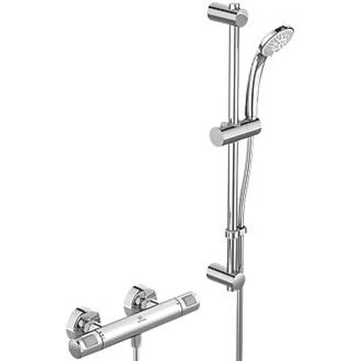Ideal Standard Ceratherm Rear-Fed Exposed Chrome Thermostatic Mixer Shower (796JP)