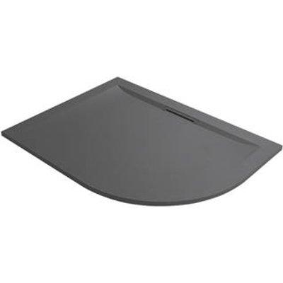 Mira Flight Level Offset Quadrant Shower Tray LH Slate Grey 1200 x 900 x 25mm (796PJ)