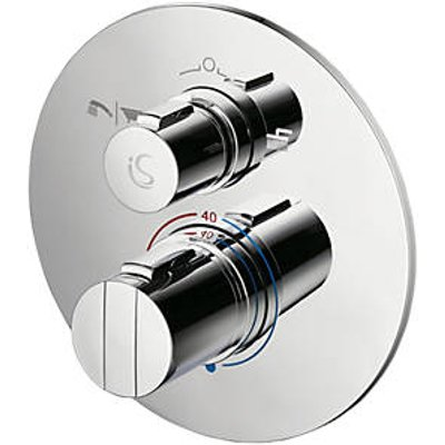 Ideal Standard Concept Easybox Slim Concealed Thermostatic Mixer Shower Valve & Diverter Fixed Chrome (8032H)