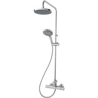 Triton Benito Rear-Fed Exposed Chrome Thermostatic Mixer Shower with Diverter (805FH)