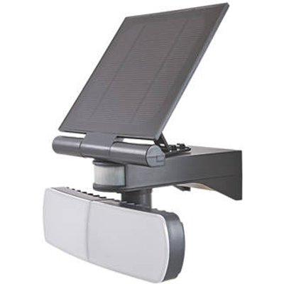 LAP  Outdoor LED Solar Floodlight With PIR Sensor Grey 2 x 500lm (808CF)